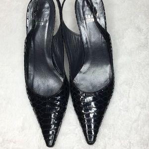 Stuart Weizman Patent Leather Sling Back Heels